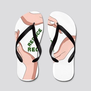Lucky7's recycle reduce reuse Flip Flops