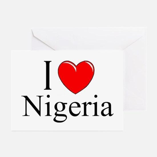 """I Love Nigeria"" Greeting Cards (Pk of 10)"