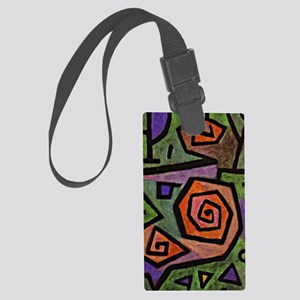Klee - Heroic Roses, abstract pa Large Luggage Tag