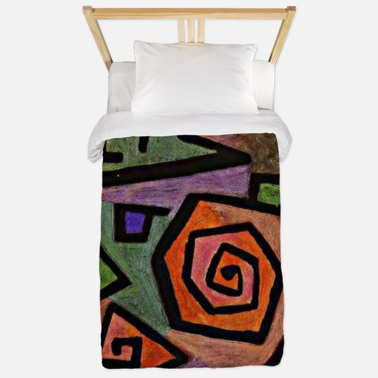 Klee - Heroic Roses, abstract painting  Twin Duvet