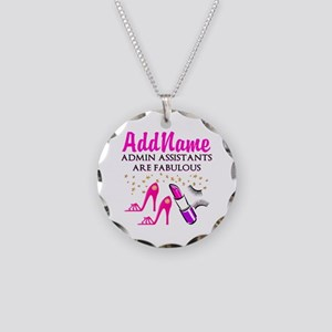 BEST ADMIN ASST Necklace Circle Charm