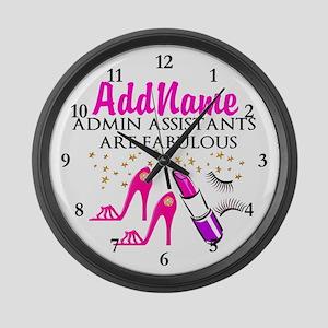 BEST ADMIN ASST Large Wall Clock