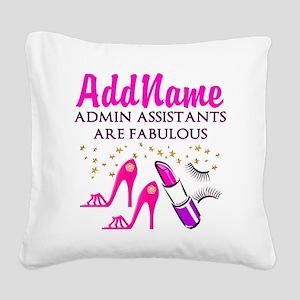 BEST ADMIN ASST Square Canvas Pillow