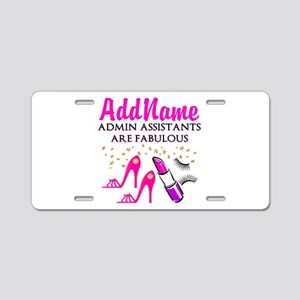 BEST ADMIN ASST Aluminum License Plate