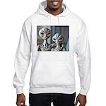 Alien Couple - Grey Hooded Sweatshirt