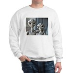 Alien Couple - Ash Grey Sweatshirt
