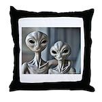 Alien Couple - Throw Pillow