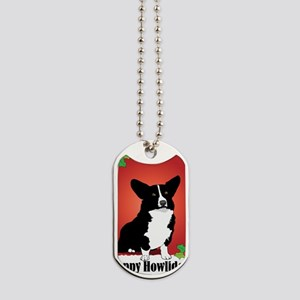 corgi_blk_xmas_card Dog Tags