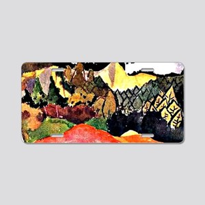 Klee - In the Quarry, color Aluminum License Plate