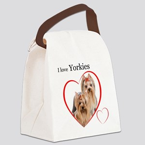 Yorkie Love Canvas Lunch Bag