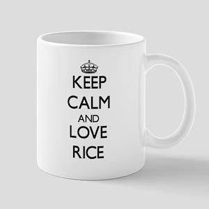 Keep calm and love Rice Mugs
