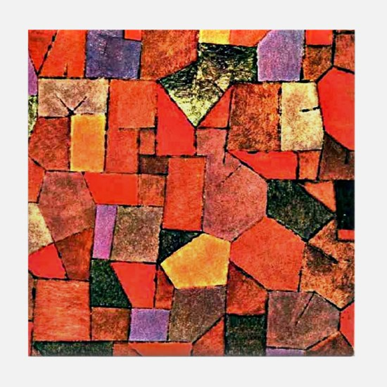 Klee - Mountain Village, painting by  Tile Coaster