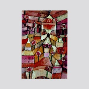 Klee - Ose Garden, painting by Pa Rectangle Magnet