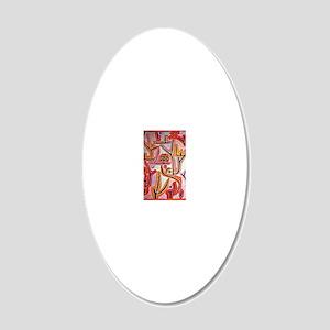 Klee - Park Bei Lu, Paul Kle 20x12 Oval Wall Decal