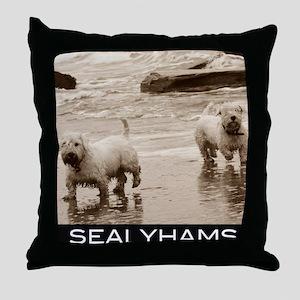 sealyhams Throw Pillow