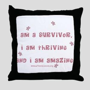 I am Amazing Throw Pillow