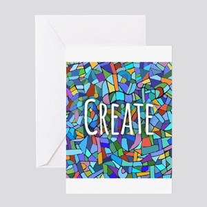 Create - inspiring words Greeting Cards