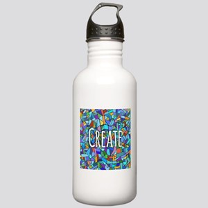 Create - inspiring words Sports Water Bottle