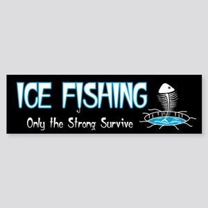 Ice Fishing Bumper Sticker