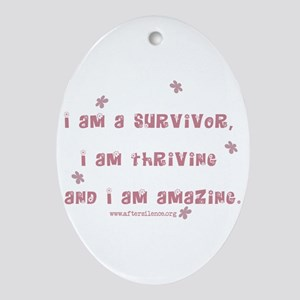 I am Amazing Oval Ornament