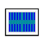 Blue Wings Framed Panel Print