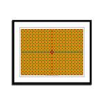 Orange Arabesque Framed Panel Print