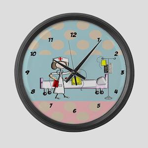 Nurse Clock 1 Large Wall Clock