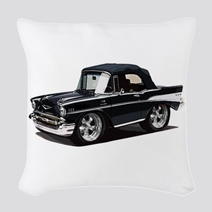 BabyAmericanMuscleCar_57BelR_Black Woven Throw Pil