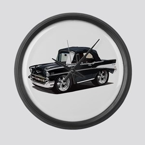 BabyAmericanMuscleCar_57BelR_Black Large Wall Cloc