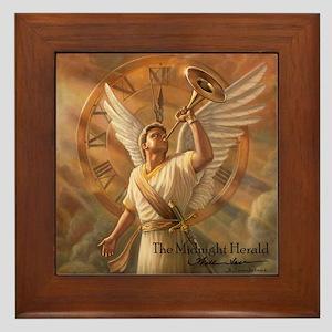 """Angel """"Midnight Herald"""" Fine Art Framed Tile"""