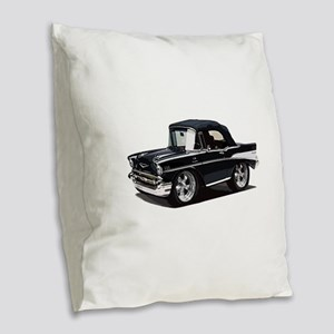 BabyAmericanMuscleCar_57BelR_Black Burlap Throw Pi