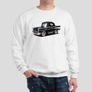 BabyAmericanMuscleCar_57BelR_Black Sweatshirt