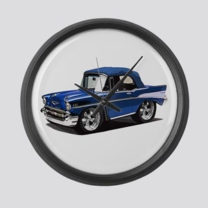 BabyAmericanMuscleCar_57BelR_Blue Large Wall Clock