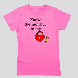 Know the numb3r to my heart Girl's Tee