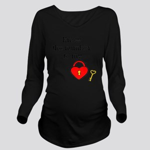 Know the numb3r to m Long Sleeve Maternity T-Shirt