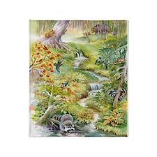 Watercolor Summer Scene Blanket