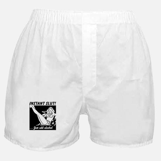 Instant Slut - Add Alcohol Boxer Shorts