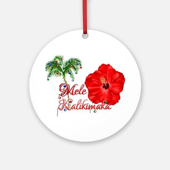 Mele Kalikamaka Ornament (Round)