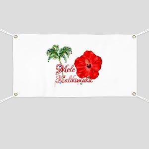 Mele Kalikamaka Banner