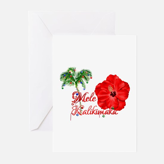 Mele Kalikamaka Greeting Cards