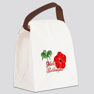 Mele Kalikamaka Canvas Lunch Bag