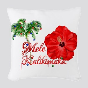 Mele Kalikamaka Woven Throw Pillow