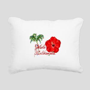 Mele Kalikamaka Rectangular Canvas Pillow