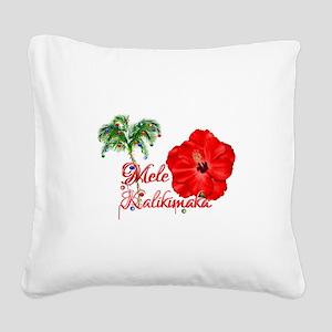 Mele Kalikamaka Square Canvas Pillow