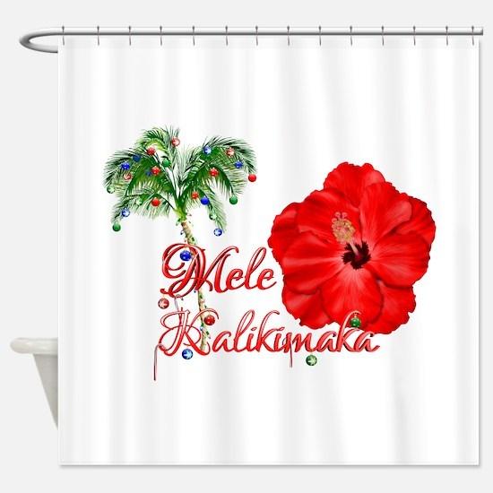 Mele Kalikamaka Shower Curtain