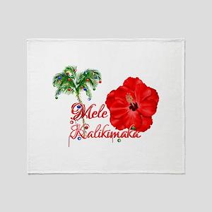 Mele Kalikamaka Throw Blanket