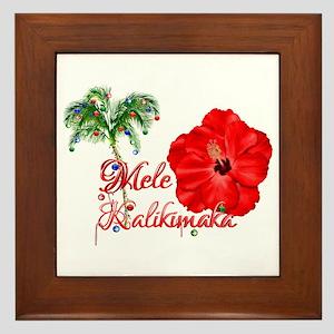 Mele Kalikamaka Framed Tile