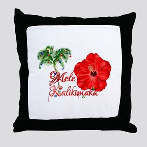 Mele Kalikamaka Throw Pillow