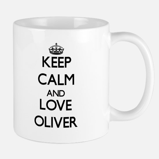 Keep calm and love Oliver Mugs