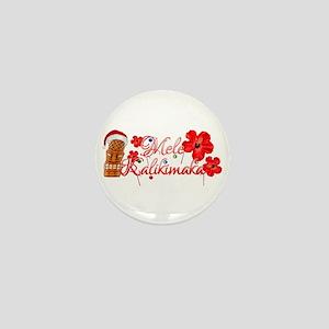 Mele Kalikamaka Tiki Mini Button
